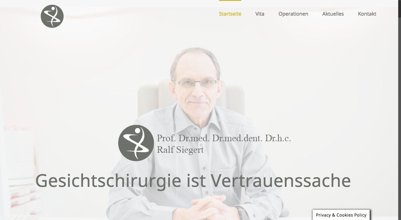 Chirurgie Dr. med. Dr. med. dent. Dr. h.c. Ralf Siegert